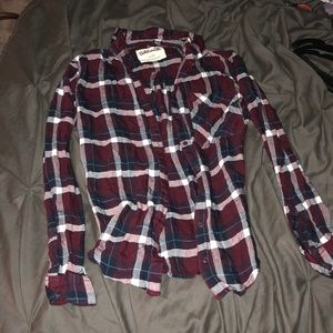 soft red button flannel from garage